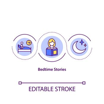 Bedtime stories concept icon