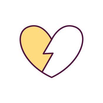 Broken heart syndrome RGB color icon