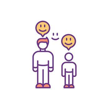 Parent-child bond RGB color icon