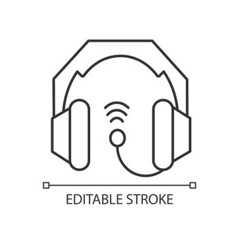 Gaming headset linear icon