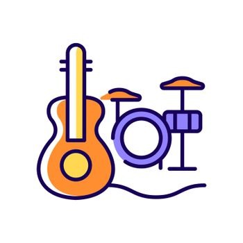 Musical talent RGB color icon