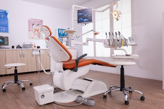 Empty orthodontist stomatology office with nobody in it