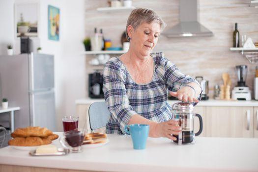 Fresh brewed mug of coffee