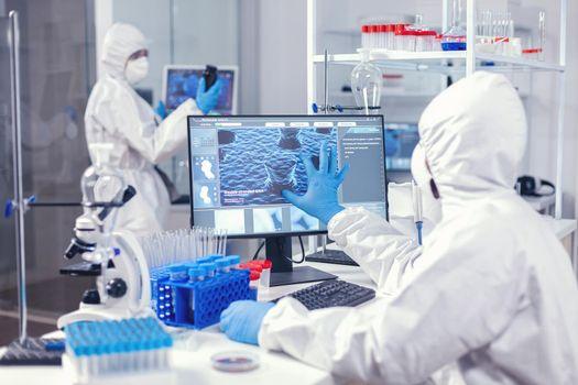 Biochemistry in medicine working in modern facility