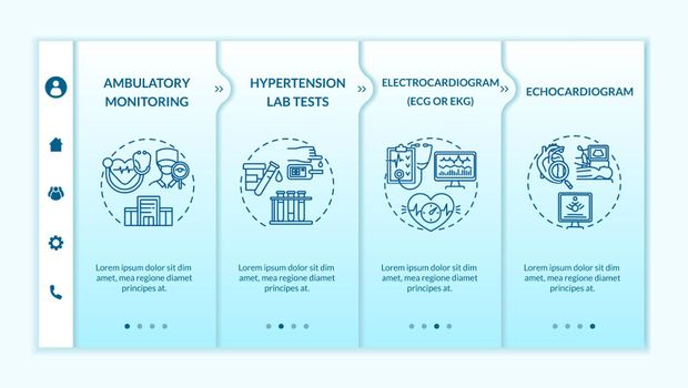 Check for hypertension onboarding vector template