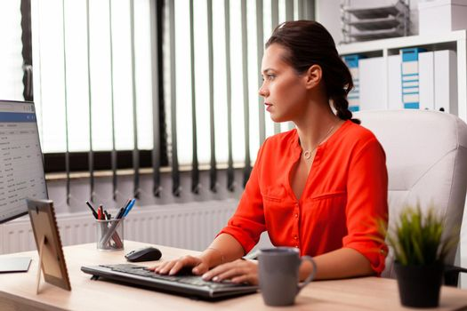 Businesswoman managerworking on professional finance expertise