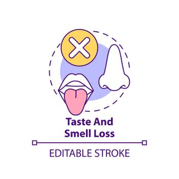 Taste and smell loss concept icon