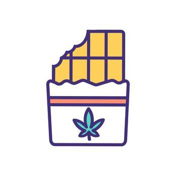 Cannabis edible RGB color icon