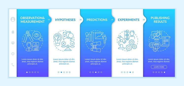 Experimentation of scientists onboarding vector template