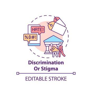 Discrimination or stigma concept icon