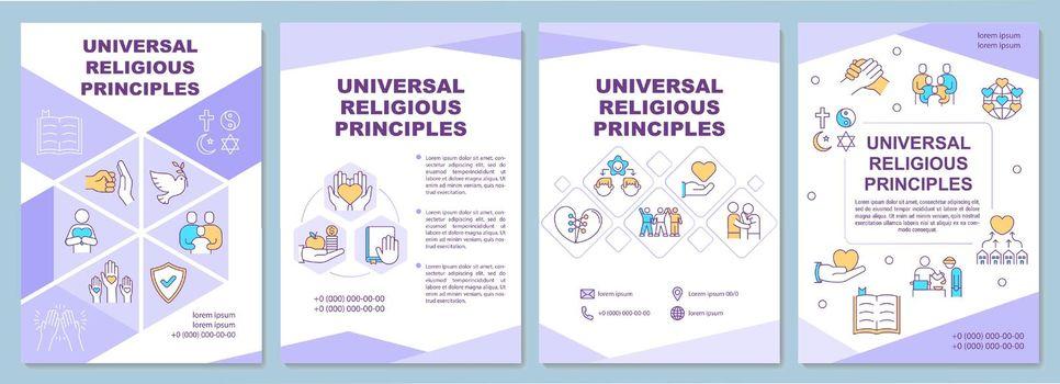 Universal religious principles brochure template