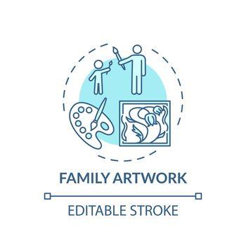 Family artwork concept icon