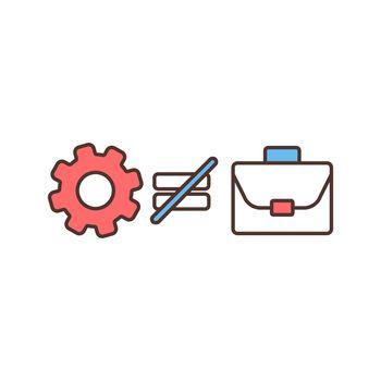 Structural unemployment RGB color icon