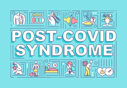 Post covid syndrome word concepts banner