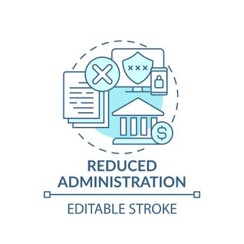 Reduced administration concept icon