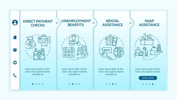 Business expense in pandemic onboarding vector template