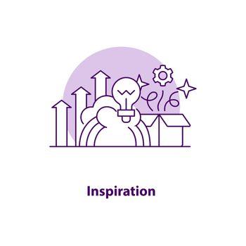 Inspiration creative UI concept icon