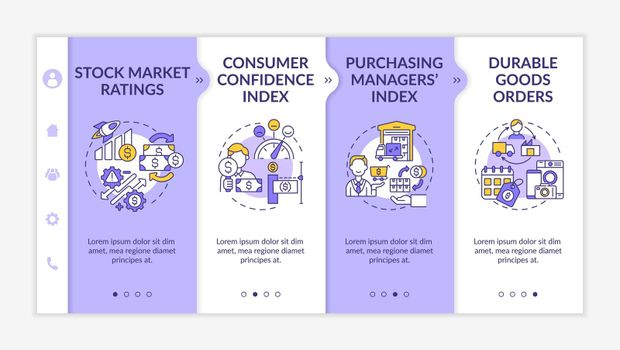 Consumer confidence index onboarding vector template