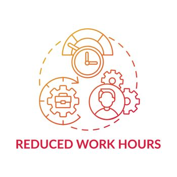 Reduced work hours concept icon