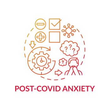Post-covid anxiety concept icon
