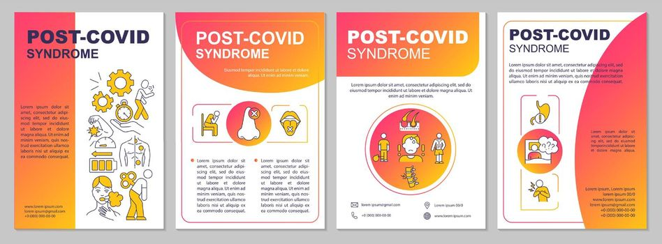 Post covid syndrome brochure template