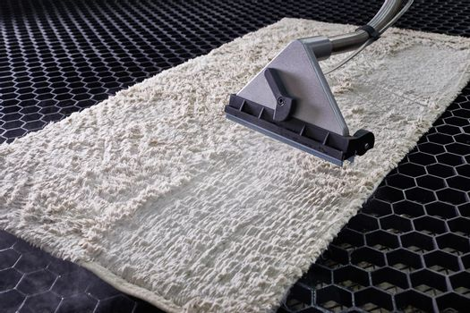 Carpet chemical cleaning with professionally extraction method in loundry service