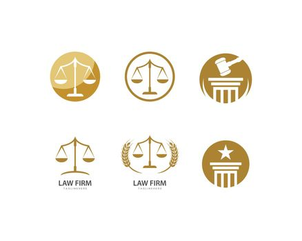 Law firm logo ilustration