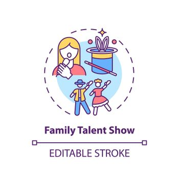Family talent show concept icon