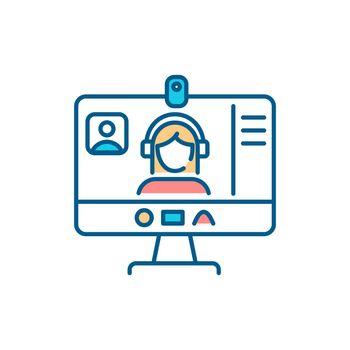 Webinar RGB color icon