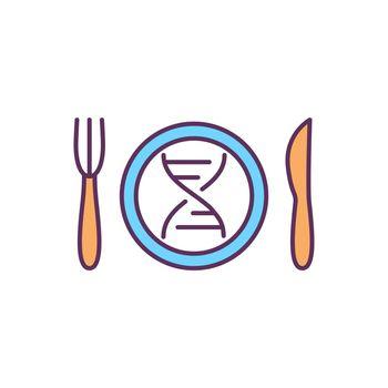 Nutrigenomics RGB color icon