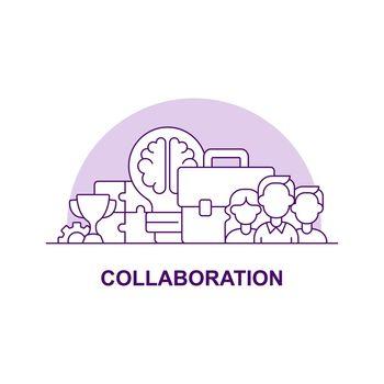 Collaboration creative UI concept icon