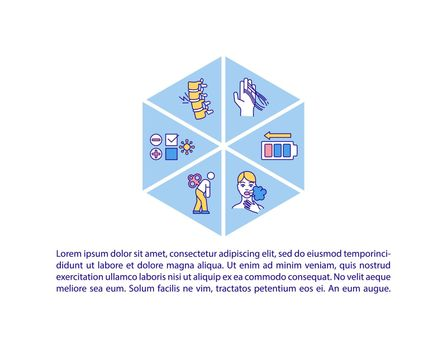 Post covid syndrome concept icon with text