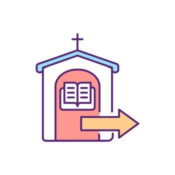 Confessing sins RGB color icon