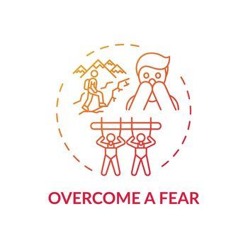 Overcome a fear concept icon