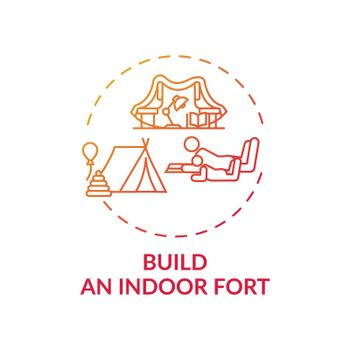 Build an indoor fort concept icon