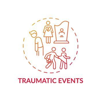 Traumatic events concept icon