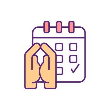 Sunday prayer RGB color icon
