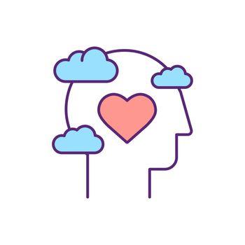 Mental health RGB color icon