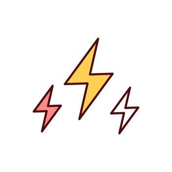 Electricity RGB color icon