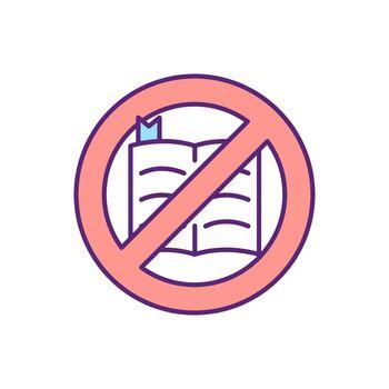 No bible RGB color icon