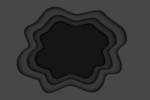 Black paper layer background. Abstract halloween with black paper cut layers.