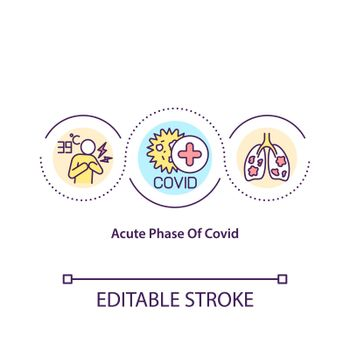 Acute phase of covid concept icon