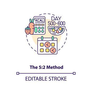 The 5-2 method concept icon