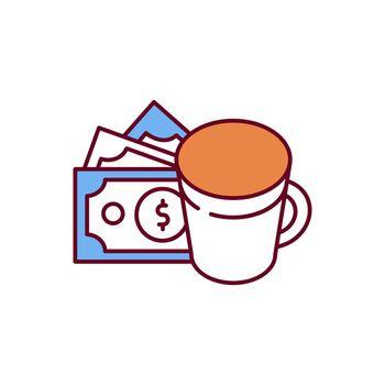 Caffeine dependence RGB color icon