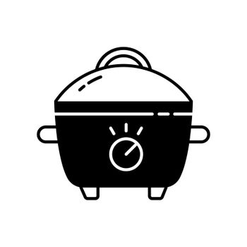 Slow cooker black linear icon