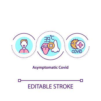 Asymptomatic covid concept icon