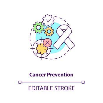 Cancer prevention concept icon