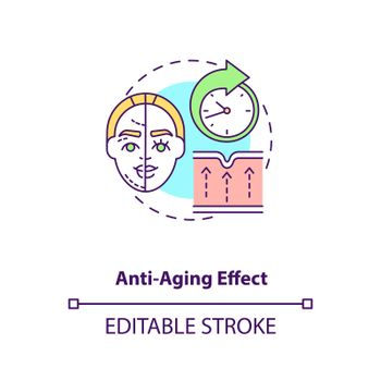 Anti aging effect concept icon