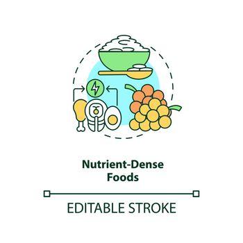 Nutrient dense foods concept icon