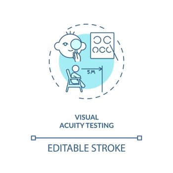 Visual acuity testing concept icon